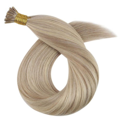 Extension A Froid Cheveux Naturels Blond Platine