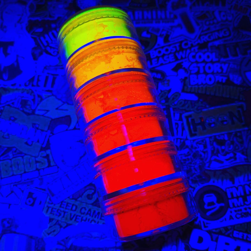 """Firestarter"" Neon UV Yellow, Orange & Red Pigments Stack"