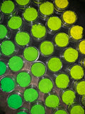"""Atomic Bomb"" Neon UV Yellow & Green Pigments Stack"
