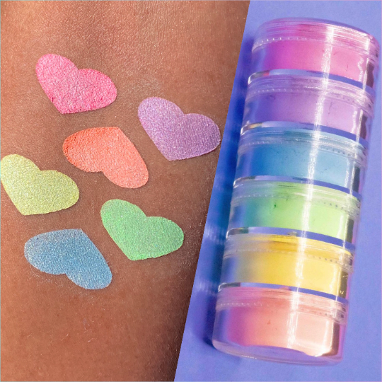 """Baby Unicorns"" Pastel Eyeshadows Pigments Stack"