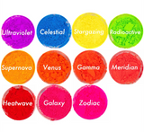 """Intergalactic Girl"" 11 Neon Eyeshadows Bundle UV Reactive Pigments"