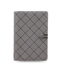 Load image into Gallery viewer, Filofax Personal Binder- Impressions: Black&White Deco  C028708