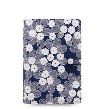 Load image into Gallery viewer, Filofax Personal Binder- Impressions: Navy&White  C028710