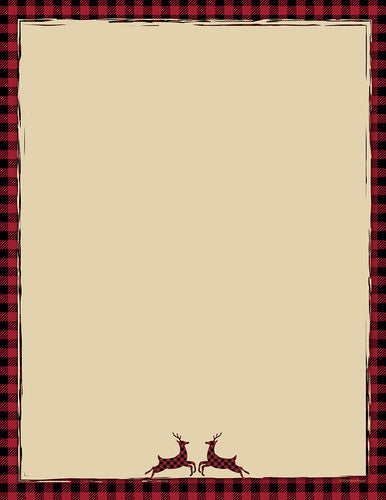 Buffalo Red Reindeer Stationery, pkg. 40  #2018010