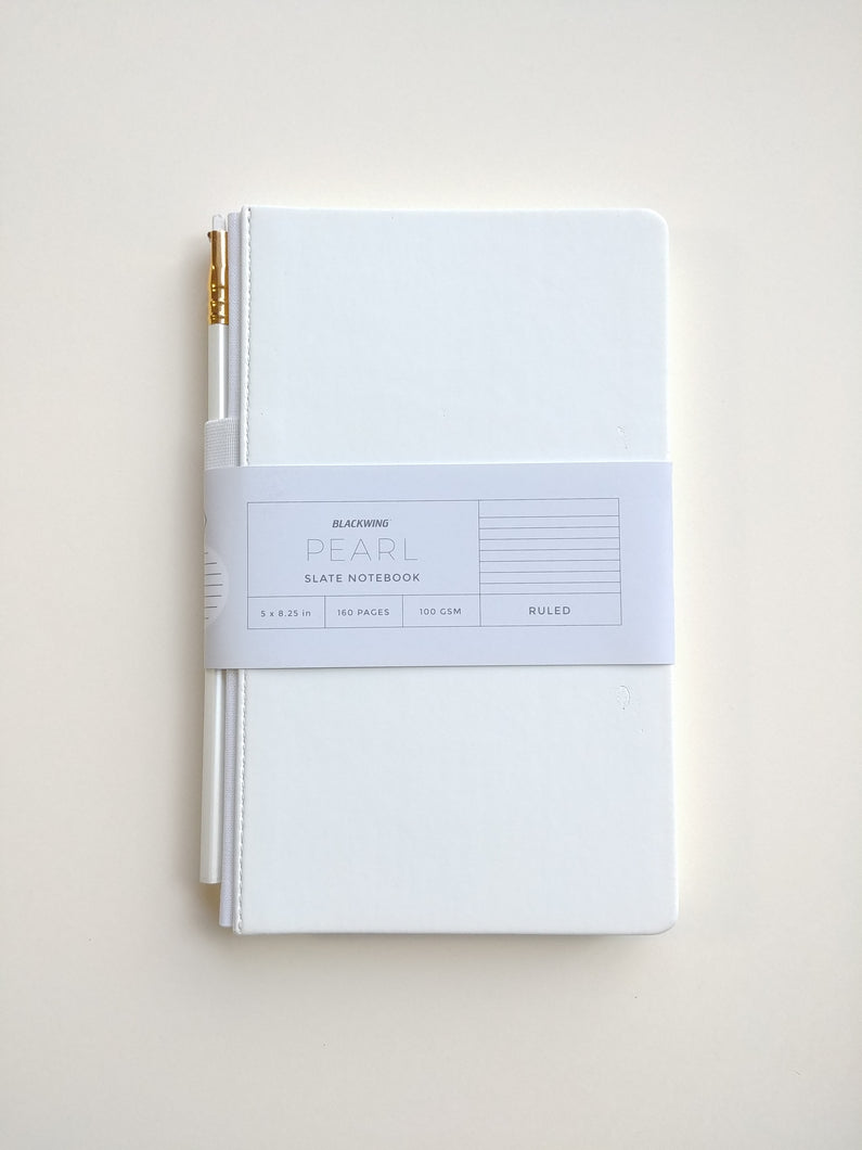 Blackwing Slate Notebook- White with lined pages