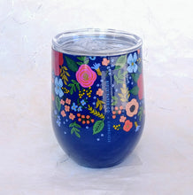 Load image into Gallery viewer, Rifle Stemless Wine Cup- Wild Rose Navy