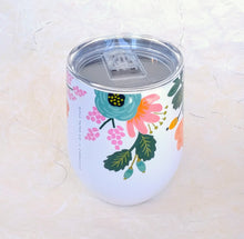 Load image into Gallery viewer, Rifle Stemless Wine Cup- Lively Floral Cream  RP2312GCL