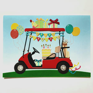 Birthday Card- Papyrus: Golf Buggy #5849807