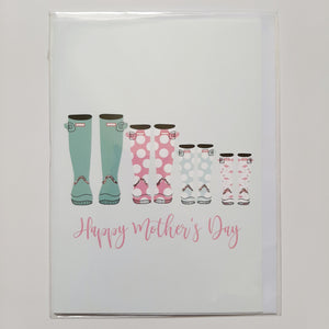 Mother's Day Card- Designs by Maria: Wellington Boots #MD133