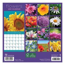 Load image into Gallery viewer, Small Wall Calendar- TF 2021 Flowers  #21-2099