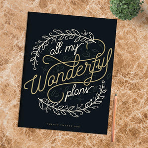 Pocket Monthly Calendar 2021- Wonderful Plans   #21-4245