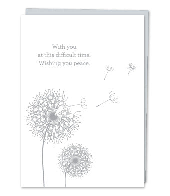 Sympathy Card- Design With Heart: Dandelions    #SY01