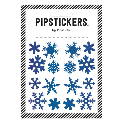 PipStickers- Blue Holographic Snowflakes  AS001961