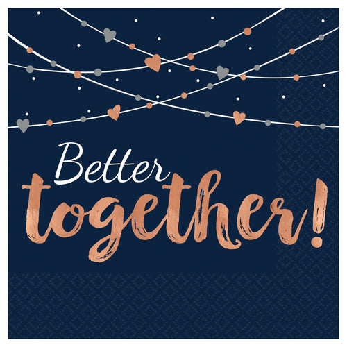 Amscan Luncheon Napkins: Better Together  #5172299