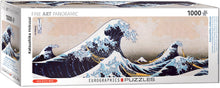 Load image into Gallery viewer, Panoramic Jigsaw Puzzle- Great Wave by Kanagawa  #6010-5487