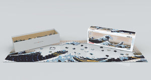 Panoramic Jigsaw Puzzle- Great Wave by Kanagawa  #6010-5487