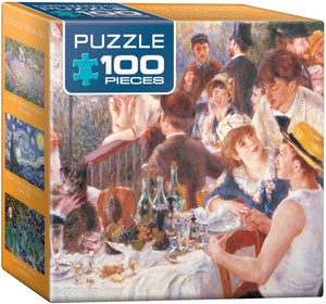 Mini 100 PC Jigsaw Puzzle- The Luncheon by Renoir  #8104-2031
