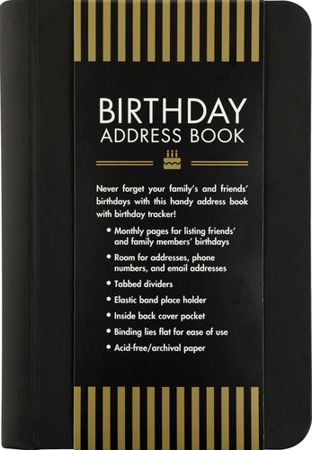 Birthday Address Book, Small   #4431