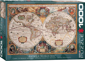 Antique World Map Jigsaw Puzzle  #6000-1997