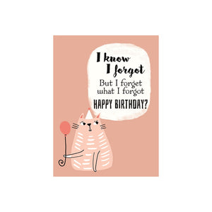 Belated Birthday Card- J&M Martinez: Cat with Balloon #BD04828