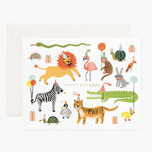 Birthday Card- Rifle Paper Co: Party Animals #B-48