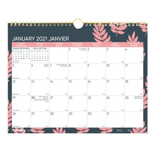 Load image into Gallery viewer, Wall Calendar- Blueline 2021 Coral  C172127B