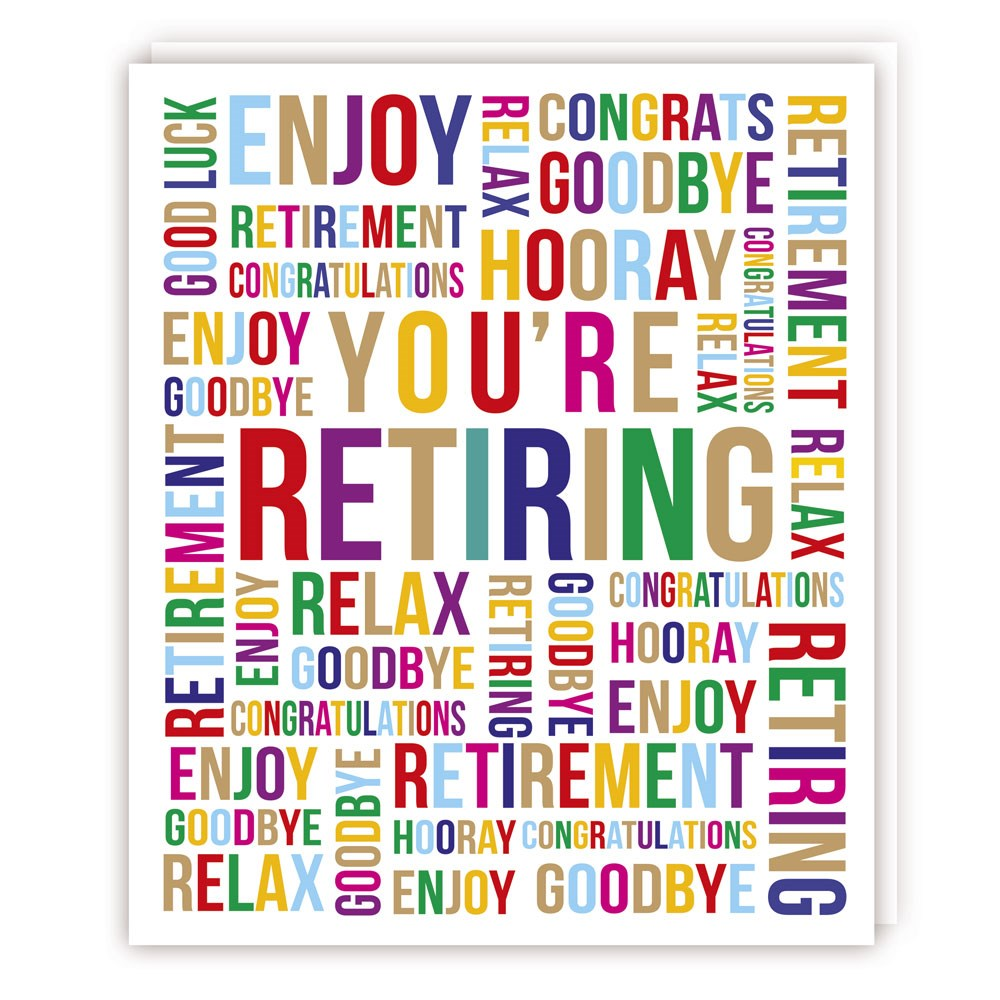 Retirement Card- Tracks Publishing: Bold Words   #C2930