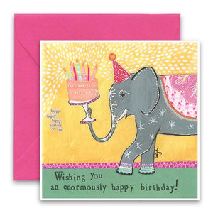 Curly Girl Birthday Card: Enormous   #SQHB72