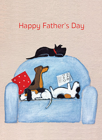 Father's Day Card- Calypso: Dog Reading Paper #CCS355