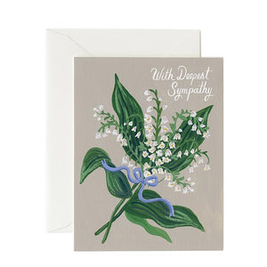 Sympathy Card- Rifle Paper Co: Lily of the Valley #S-175