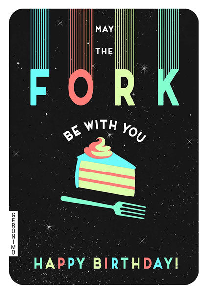 The Art File Birthday Card: Fork Be With You  GE26