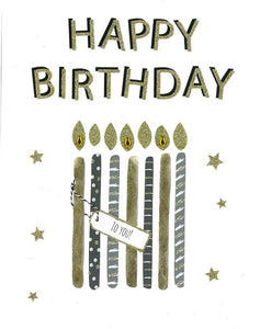 Oversize Birthday Card- Second Nature: Candles #GI105