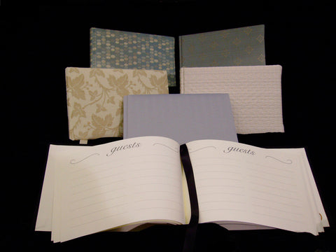 PaperyWorks Fabric-Covered Guest Books/Livre d'or