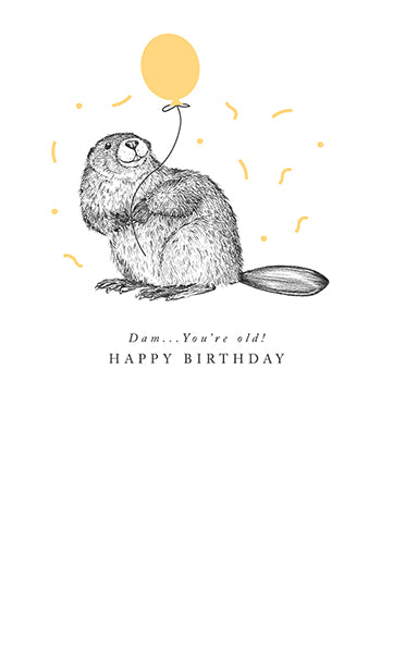 The Art File Birthday Card: Beaver   HB31