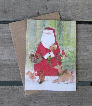 Santa & Forest Friends Boxed Recycled Cards (14)