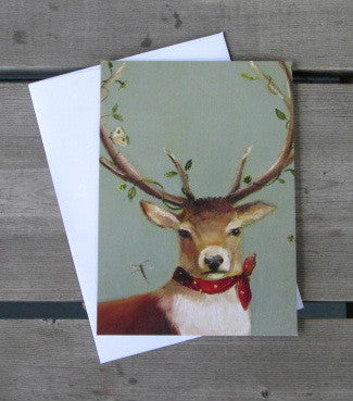 Antlered Stag Boxed Christmas Cards (10)