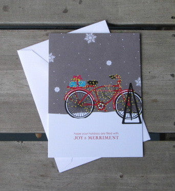 Decorated Bike Boxed Christmas Cards (10)