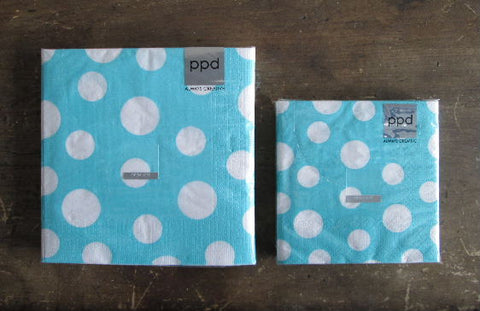 Dots on Turquoise Napkins