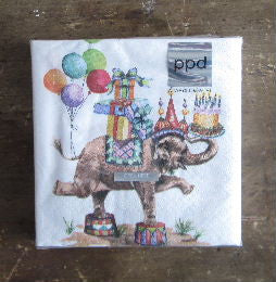 Birthday Elephant Napkins