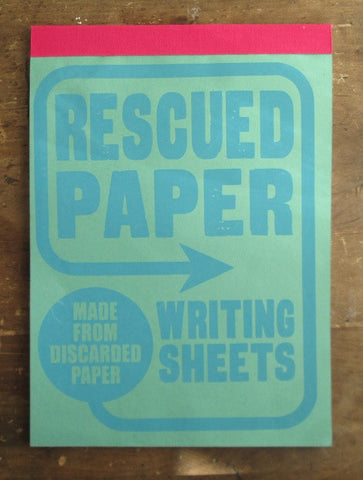 Rescued Paper Writing Sheets