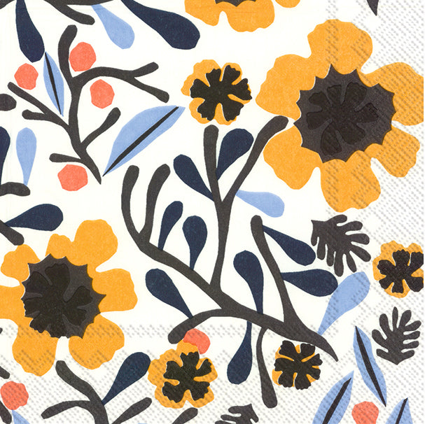 IHR Luncheon Napkins- Mykerö white yellow     #L803797