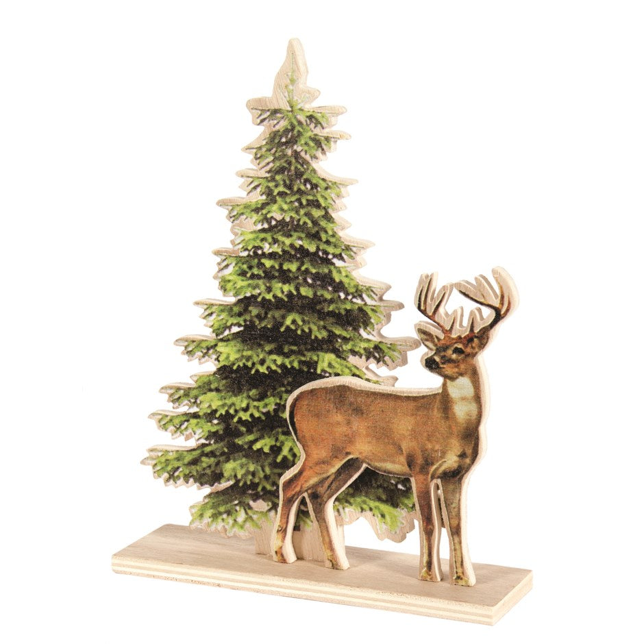 Deer and Tree Standing Decoration  N37399