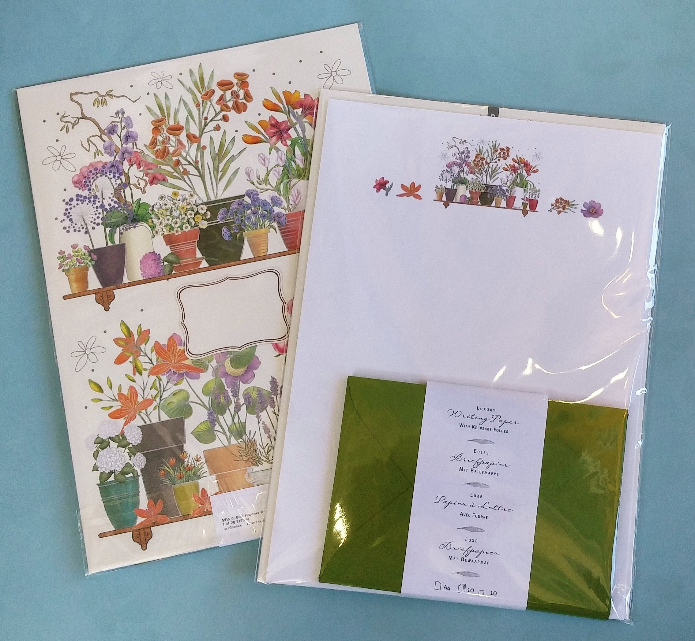 Quire Potted Flowers Writing Paper Folio The Papery