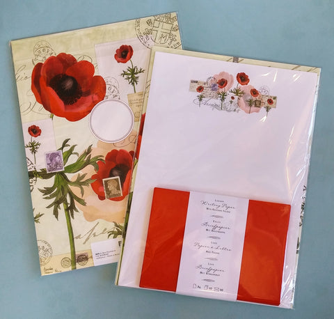 Quire Poppies Writing Paper Folio