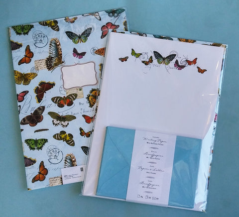 Quire Butterflies Writing Paper Folio