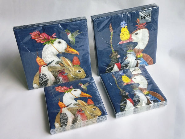 Animals & Birds in Hats Napkins