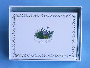 Succulents Note Cards. #4078-1