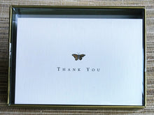 Load image into Gallery viewer, Gold Butterfly Thank You Notes    #108X