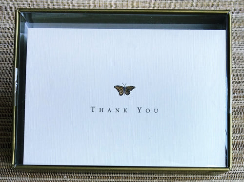 Gold Butterfly Thank You Notes    #108X