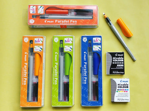 Pilot Parallel Calligraphy Pens & Mixable Ink Cartridges